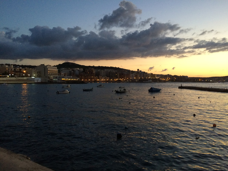 Boats-in-Malta-at-sunset