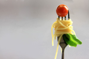 pasta on a fork
