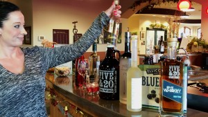 reviewing spirits at grape discovery center
