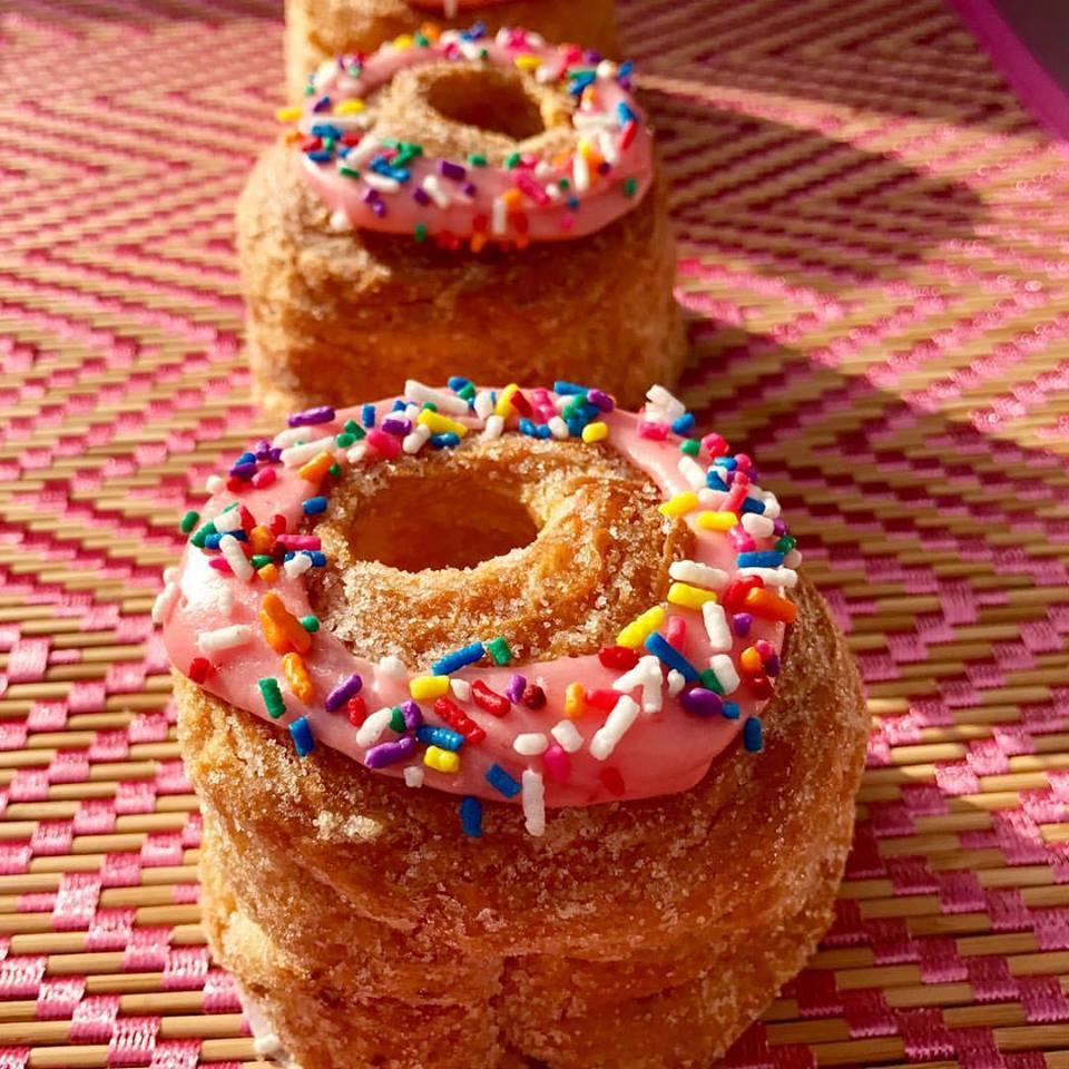 sprinkled doughnuts