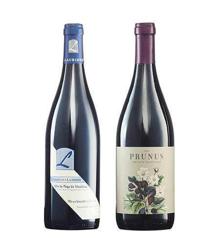 two bottles of wine from Cellars Wine club