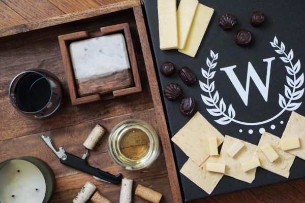 wine and cheese sample from Wine Down Box