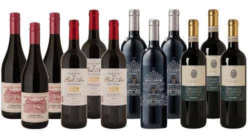 bottles of wine from the WSJ Wine Club