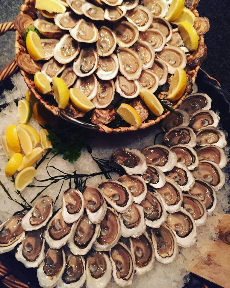 trays of oysters
