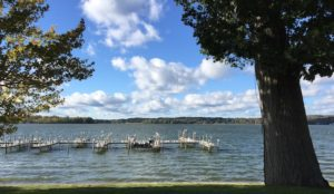 picture of Lake Chautauqua from the Bemus Shore